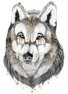 WOLF Art Print by Marlene Martins | Society6
