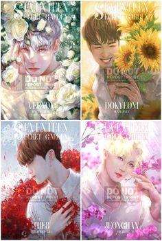 Woozi, Jeonghan, Monsta X, Seventeen Debut, Carat Seventeen, Cartoon Fan, Bts Chibi, Kpop Fanart, Art