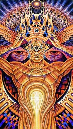 Partage of Psychedelic Experience by Alex Grey Psychedelic Experience, Eyes Artwork, Alex Gray Art, Spiritual Art, Fractal Art, Amazing Art, Poster Art, Visionary Art, Grey Art