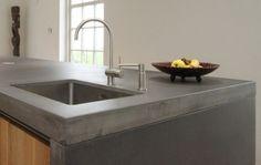 mooi keukenwerkblad in betonlook
