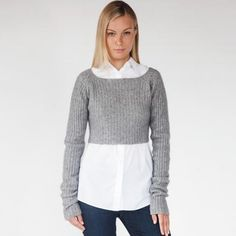 Kat | gray cropped sweater