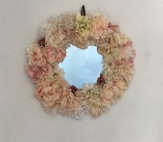 Shabby Chic mirror, Large decorative mirror, boho chic bedroom. silk flowers decor, wall decoration, pink beige mirror, gift for mother Shabby Chic Table Lamps, Shabby Chic Mirror, Shabby Chic Wall Decor, Floral Bedroom, Boho Chic Bedroom, Silk Flowers, Fabric Flowers, Beige Mirrors, Different Kinds Of Flowers