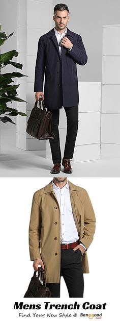 US$69.99 + Free Shipping. Mens Autumn Casual Turn-down Collar Slim Fit Overcoat Single-breasted Business Long Trench Coat. Color: Khaki, Navy. >>> To View Further, Visit Now.