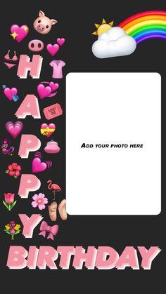 Happy Birthday Frame, Happy Birthday Posters, Happy Birthday Quotes For Friends, Happy Birthday Wallpaper, Birthday Posts, Birthday Frames, Birthday Captions Instagram, Birthday Post Instagram, Birthday Collage