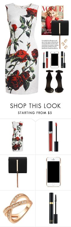 """Rose print dress"" by yexyka ❤ liked on Polyvore featuring CO, Christian Dior, Moschino, Tom Ford and Isabel Marant"