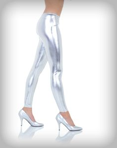 Silver Leggings Adult Womens
