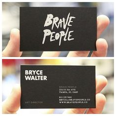 Brave People business cards by Mama's Sauce