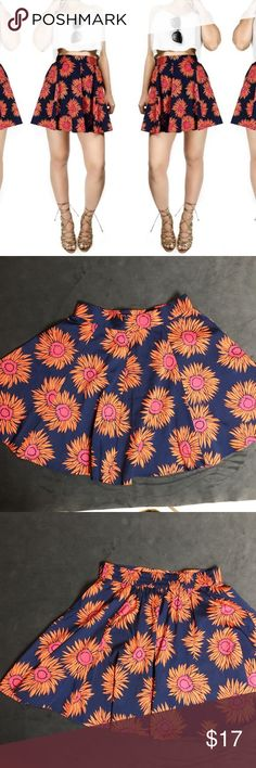 Anthropologie Band of Gypsies Floral Skater Skirt Slightly Used Band of Gypsies Size SMALL Elastic band in back A-Line SKIRT ADORABLE! Band of Gypsies Skirts