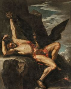 The Punishment of Prometheus, Salvator Rosa. Oil on canvas, 344 x 214 cm, 1648 - 1650, Galleria Nazionale dÁrte Antica di Palazzo Corsini