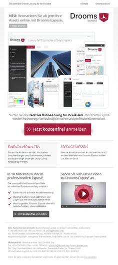 Neues Template für die Data Room Services GmbH #Newsletter #Newsletterdesign #Email #Emailmarketing