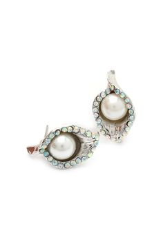 Crystal Lilly Earrings | callas + pearls..perfect!!!!!