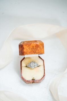 Stunning vintage engagement ring:  http://www.stylemepretty.com/virginia-weddings/stevensburg/2016/06/24/this-pastel-inspiration-session-is-the-wedding-of-our-dreams/ | Photography: Sarah Houston Photography - http://www.shoustonphotography.com/