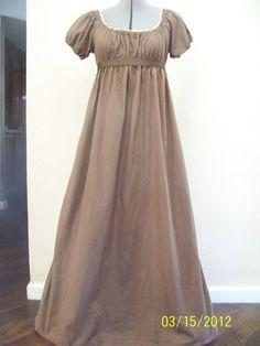 Jane Austen Regency Style Costume Dress Size 6/8 Women via Etsy