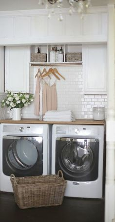 Inexpensive home decorating ideas product. laundry: keeping things clean the easy way - french country cottage Mudroom Laundry Room, Laundry Room Remodel, Farmhouse Laundry Room, Small Laundry Rooms, Laundry Room Organization, Laundry Room Design, Laundry Cupboard, Laundry Closet Makeover, Laundry Room Cabinets