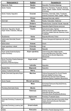tabelka współrzędności-page-001 Allotment Gardening, Forest Garden, Shade Garden, Garden Inspiration, Garden Design, Plants, Google, Gardens