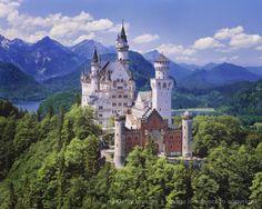 Germany, Bavaria, Neuschwanstein Castle, elevated view