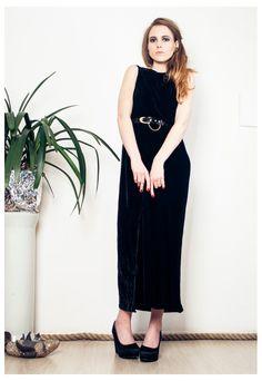 Long black dress asos marketplace