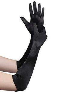 Best Gloves, Long Gloves, Black Gloves, Flapper Accessories, Flapper Costume, Costume Dress, Gloves Fashion, Wedding Gloves, Black Satin