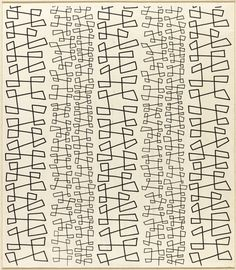 Angelo Testa; 'TheDance' Textile Design, 1950s.