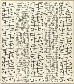 Angelo Testa; 'TheDance' Textile Design, 1950s.
