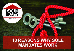 5 REASONS WHY A SOLE MANDATE ISBEST