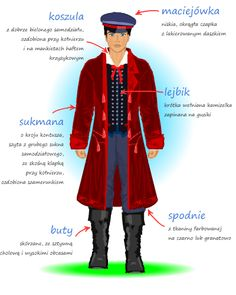 Strój świętokrzyski Art Costume, Folk Costume, Costumes, Polish Language, Visit Poland, Polish Folk Art, Folk Clothing, Ethnic Outfits, Folk Fashion