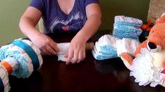 How to make a Diaper Cake - 4 Wheeler / ATV, via YouTube.