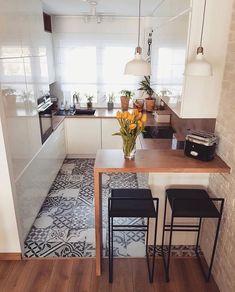 Home Decor - Beautiful Decoration Design Ideas For Small Kitchen Apartment Kitchen, Home Decor Kitchen, Interior Design Kitchen, Kitchen Ideas, Room Interior, Interior Ideas, Tiny House Storage, Cute Kitchen, Kitchen Small