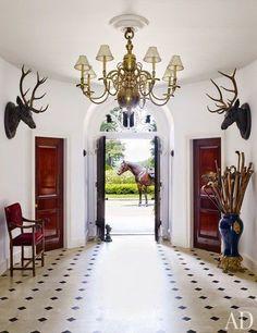 rustic elegance in the entryway