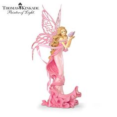 "Thomas Kinkade Breast Cancer Support ""Hope Angel"" Figurine"