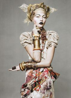 Sasha Pivovarova in 'The American Experience' by David Sims for Vogue US modern gypsy