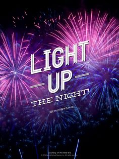 Shine your light bright this New Year's night!