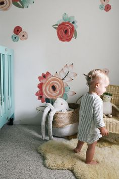 Decorating our Studio with Urban Walls — Treasures & Travels. - Home Decor Maxi Floral, Big Girl Rooms, Boy Rooms, Everything Baby, Nursery Inspiration, Girls Bedroom, Master Bedroom, Childs Bedroom, Kid Bedrooms