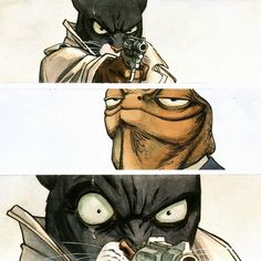 Blacksad is a comic album series created by Spanish authors Juan Díaz Canales (writer) and Juanjo Guarnido (artist)