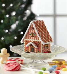 Gingerbread delight: Create a spectacular Christmas decoration with Meg Evershed's sparkling 3D gingerbread house design. Find it on page 51 of our November 242 issue of Cross Stitch Collection: http://www.crossstitchcollection.com/find-us/
