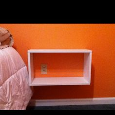 Floating nightstand-Ana White inspired!  I love it for the sides of my TV, with ana white ledge shelves above my tv.
