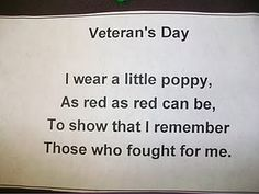here is the poem that goes with the vet poppy.
