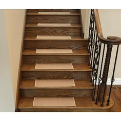 Best Stairs Carpet On Tread And Wood Riser Carpet Stairs 400 x 300