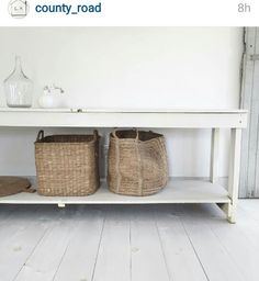 These simple old pieces look great painted or au naturel.