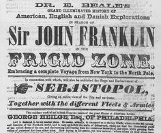 Sir John Franklin (1786-1847) was an officer in the Royal Navy and an Arctic explorer. There's always more to explore.