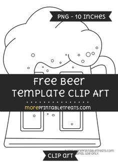 Free Beer Template - Clipart