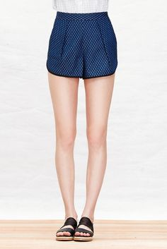 A Common Space High-Waisted Denim Shorts