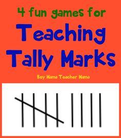 Boy Mama Teacher Mama | 4 Fun Games for Teaching Tally Marks