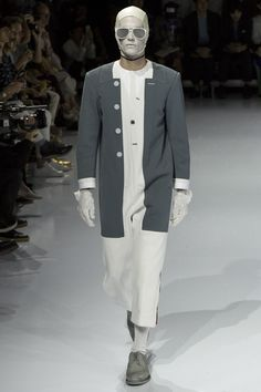 Thom Browne, Look #24 Art and Ideas Shared :  More At FOSTERGINGER @ Pinterest