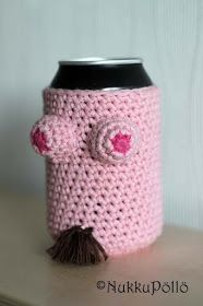 NukkuPöllö: k-18 tölkinsuoja Travel Mug, Crafty, Mugs, Tableware, How To Make, Crocheting, Crochet, Dinnerware, Tumblers