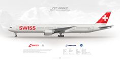 Boeing 777-300ER HB-JNB Swiss International Airlines   www.aviaposter.com   #boeing #b777 #swiss Swiss Air, Airline Logo, International Airlines, Seating Plans, Boeing 777, Commercial Aircraft, British Airways, I Want To Travel, Aeroplanes