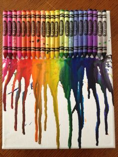 A crayon and paint rainbow, made by D, 10 years old, Artist Of The Day on 02/23/2013 • Art My Kid Made #kidart