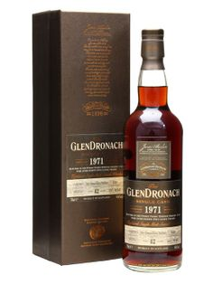 An old and incredibly dark whisky from Glendronach, released as part of their 8th selection of single casks. Distilled in 1971 and aged for 42 years in a Pedro Ximenez puncheon before bottling in M...