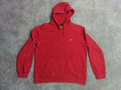 Nike men's red hoodie track athletic sweatshirt, Large, #3775 #Nike #Hoodie