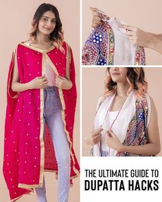 Modern Blouse Designs, Designs For Dresses, Stylish Dresses, Fashion Dresses, Ways To Wear A Scarf, How To Wear A Sari, Saree Wearing, Diy Fashion Hacks, Saree Draping Styles